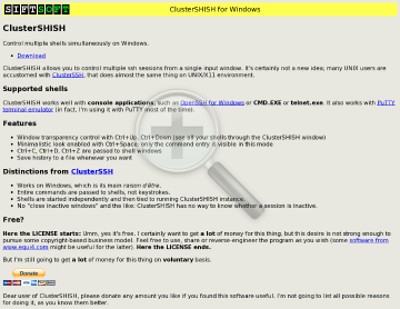 Clustershish Version Full preview. Click for more details