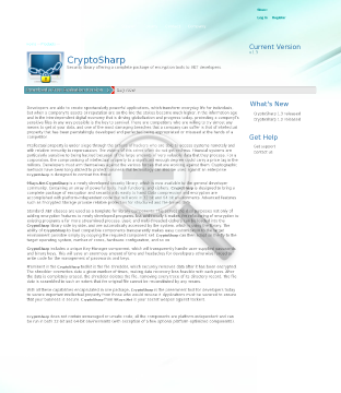 Cryptosharp Security Single Developer Library preview. Click for more details