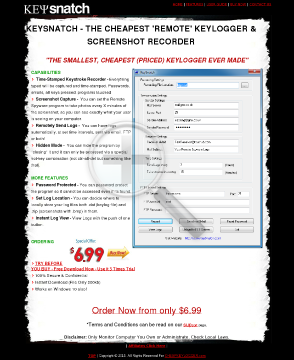 Full Version Keylogger Keysnatch preview. Click for more details