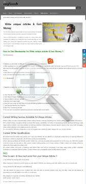 Money Earn Unique Articles And Version Write Full preview. Click for more details
