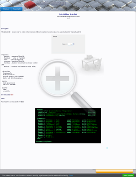Source Code Tfloatspinedit Delphi preview. Click for more details