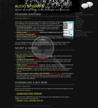 Spyware Audio 00 $2 Promotion preview. Click for more details