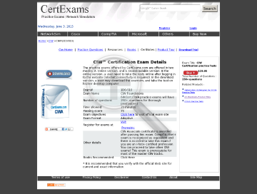 Version Practice Exams Ce: Full Ciw Associate Online preview. Click for more details